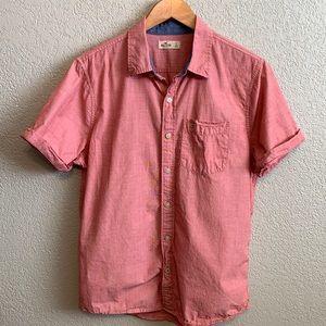 Hollister button up short sleeve shirt size large